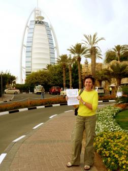 Christiane in Dubai (Burj Arab)