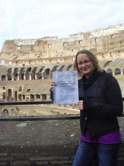 Lieselot in het Colloseum in Rome
